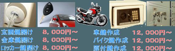 韮崎市 鍵修理料金
