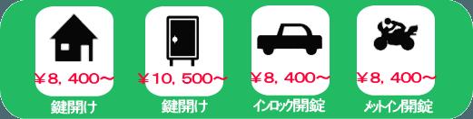 大阪 鍵トラブル料金