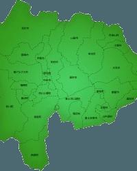 山梨県サポートエリアマップ