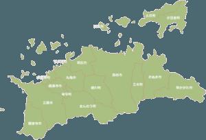 高松市を中心に鍵のトラブルに24時間対応致します。高松市巡回エリア。