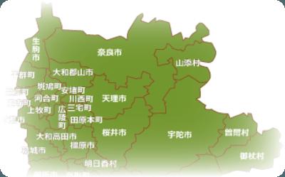 奈良県 天理市周辺地図