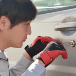自動車 運転席ドア ピッキング開錠作業
