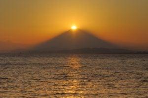 船橋市からみるダイヤモンド富士