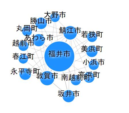 福井 出張頻度マップ