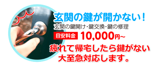 埼玉県鍵開け料金