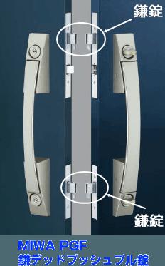 千葉県松戸市で交換んの鎌デッドプッシュプル錠