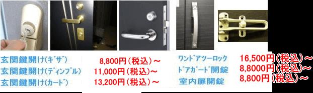 福島県福島市 玄関 勝手口 鍵開け 鍵修理